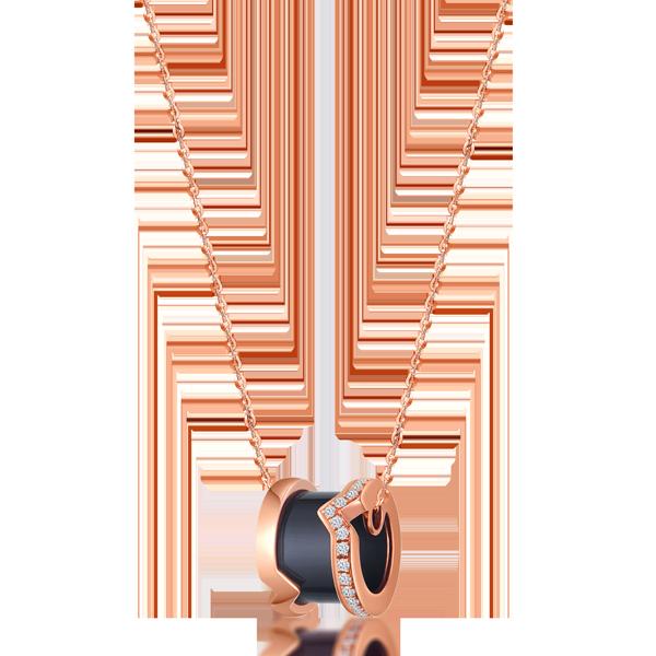 FANTASY K金黑玛瑙钻石项链
