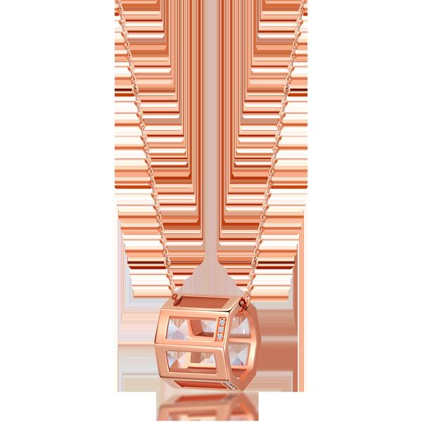 FANTASY K金钻石项链